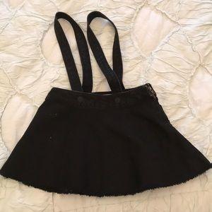 ZARA girls denim suspender skirt. Size 4T.